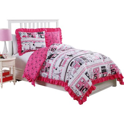 Maritza Reversible Comforter Set Size: Twin