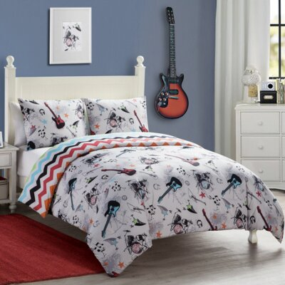 Quintin Reversible Comforter Set Size: Twin
