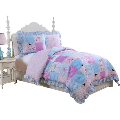 Melody Reversible Comforter Set Size: Twin