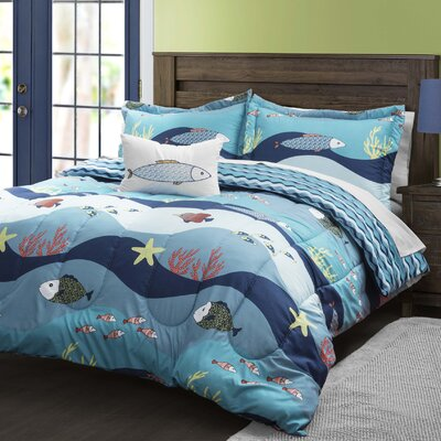 Rickey Reversible Comforter Set Size: Full/Queen