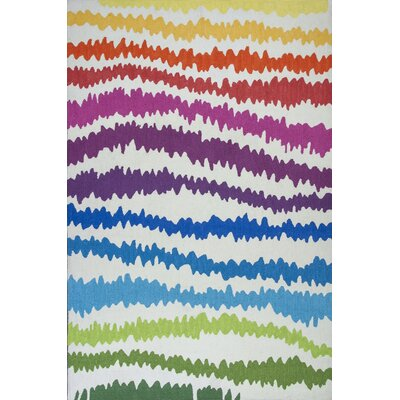 Zachariah Hand-Tufted Rainbow Area Rug Rug Size: 66 x 96