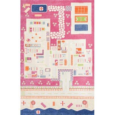 Dandre Pink Area Rug Rug Size: 33 x 5