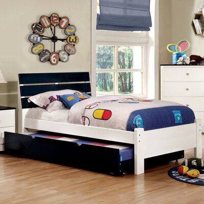 Cristina Platform Bed Color: Blue, Size: Twin