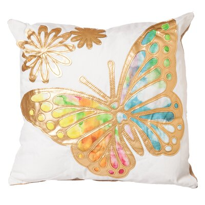 Abbott Watercolor Butterfly Throw Pillow