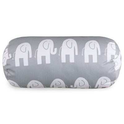 Cayden Round Cotton Bolster Pillow Color: Gray