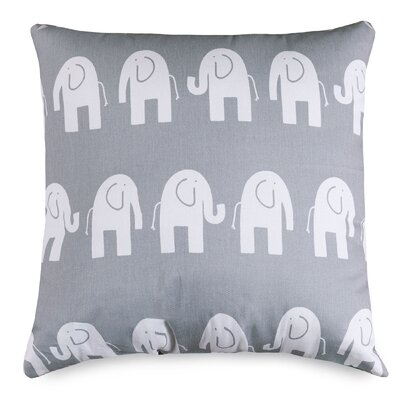 Cayden Throw Pillow Size: Large, Color: Gray