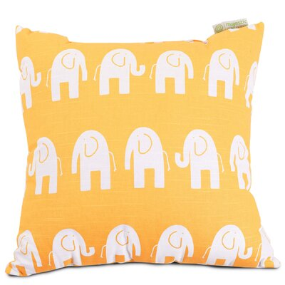 Napoleon Throw Pillow Size: Extra Large, Color: Yellow