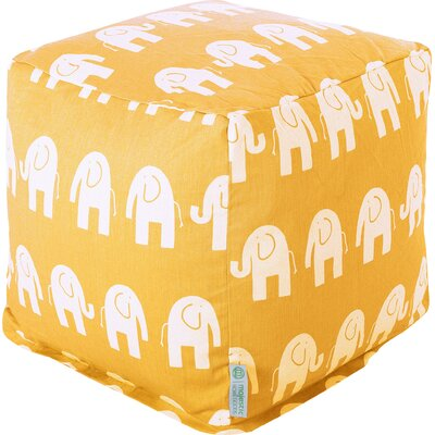 Cayden Small Cube Ottoman Upholstery: Yellow