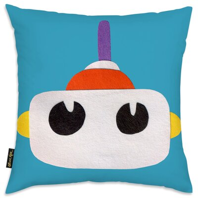 Jazlyn Robot Head I Throw Pillow