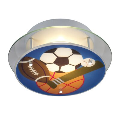 Brennan Sports Theme Semi Flush Mount
