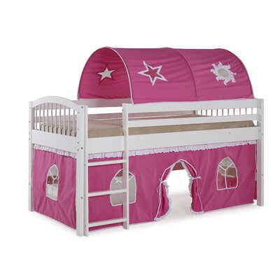 Abigail Twin Loft Bed Color: White/Pink