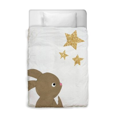 Abigail Bunny and The Stars Duvet Cover Size: Twin