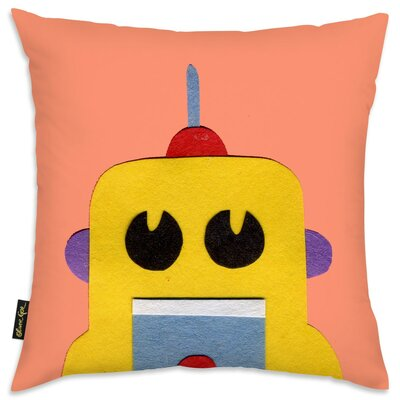 Jazlyn Robot Head III Throw Pillow