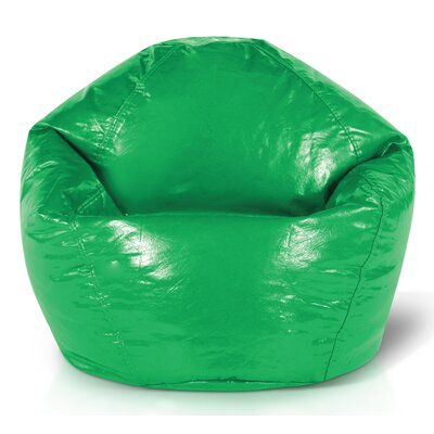 Vinyl Bean Bag Chair Upholstery: Green
