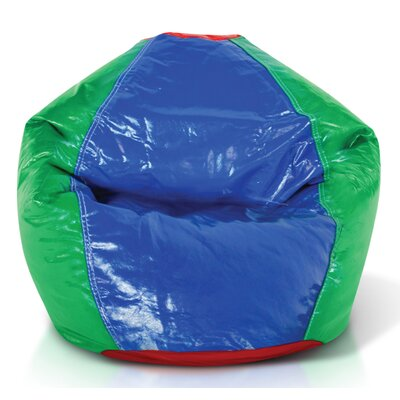 Vinyl Bean Bag Chair Upholstery: Multicolor
