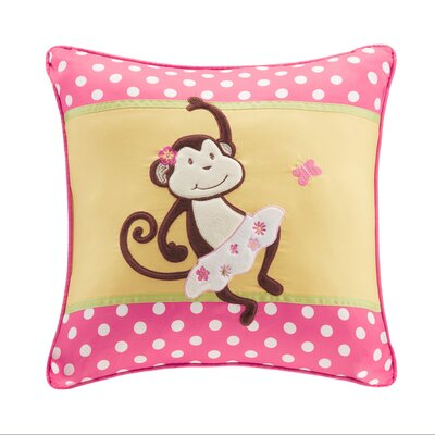 Alice Applique and Printed Throw Pillow