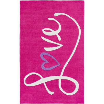 Alvin Hand-Tufted Bright Pink Area Rug Rug size: 5 x 76