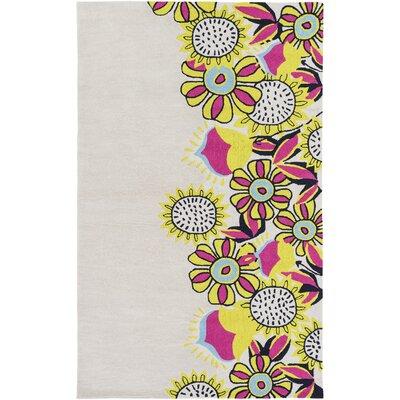 Cesar Hand-Tufted Khaki Area Rug Rug size: 76 x 96