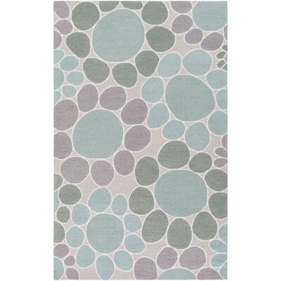 Blake Hand-Hooked Taupe Area Rug Rug size: Rectangle 3 x 5