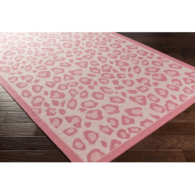 Blake Hand-Hooked Pink Area Rug Rug Size: Rectangle 5 x 76