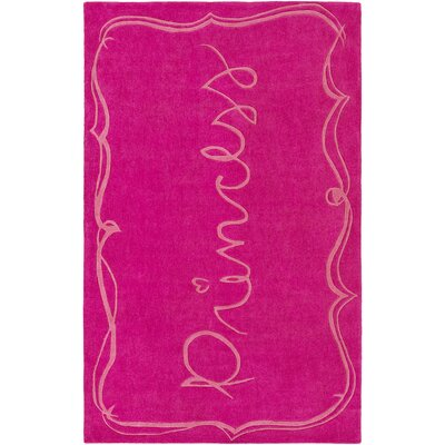 Cesar Hand-Tufted Bright Pink Area Rug Rug size: Rectangle 3 x 5