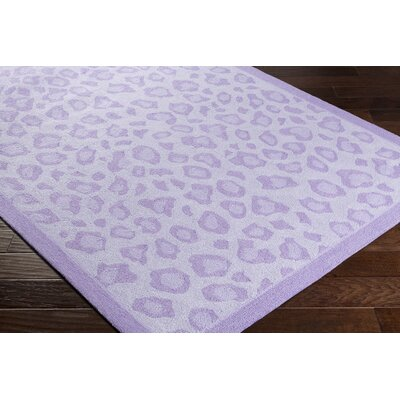 Blake Hand-Hooked Lavender Area Rug Rug size: Rectangle 5 x 76