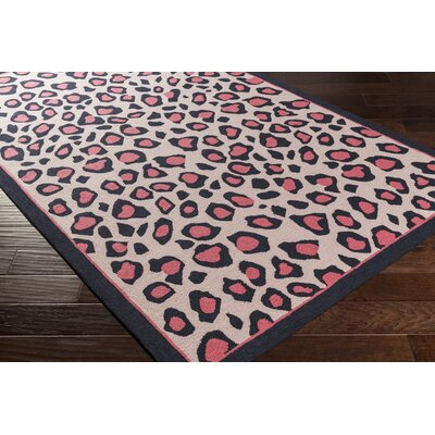 Blake Hand-Hooked Pink Area Rug Rug size: Rectangle 3 x 5