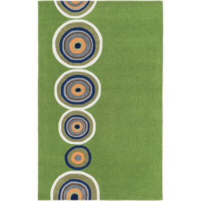 Cesar Hand-Tufted Glass Green Area Rug Rug size: 3 x 5