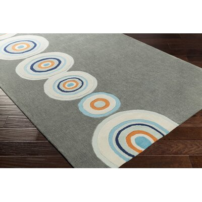 Cesar Hand-Tufted Charcoal Area Rug Rug size: Rectangle 76 x 96