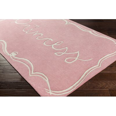 Cesar Hand-Tufted Bright Pink/White Area Rug Rug size: 3 x 5