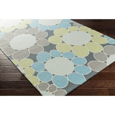 Blake Hand-Hooked Green/Blue Area Rug