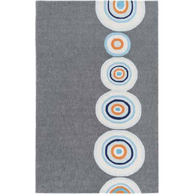 Cesar Hand-Tufted Gray/Blue Area Rug Rug Size: Rectangle 5 x 76