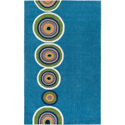 Cesar Hand-Tufted Blue/Green Area Rug Rug Size: Rectangle 5 x 76