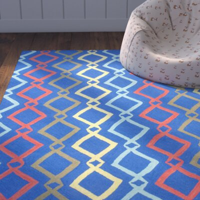 Zachariah Hand-Tufted Blue Area Rug Rug Size: 5 x 7