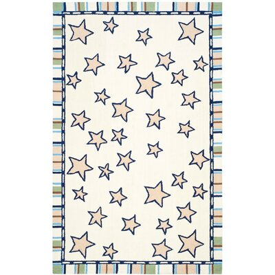Shiloh Hand-Tufted Ivory Area Rug Rug Size: Square 6