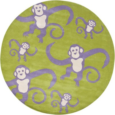 Caroline Green Monkey Area Rug Rug Size: Rectangle 5 x 76