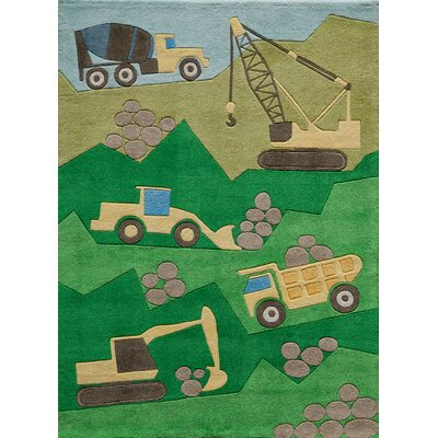 Bailey Hand-Tufted Site Green Area Rug Rug Size: 5 x 7