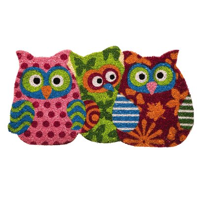 Armando Owl Shaped Coir Door Mat