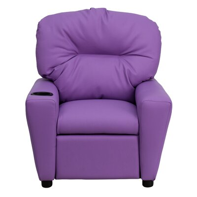 Candy Kids Recliner with Cup Holder Upholstery: Vinyl - Lavender ZMIE2070 34651364