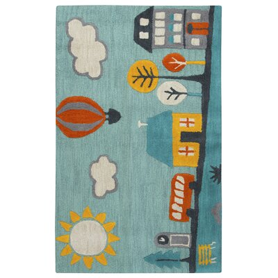 Ashlee Hand-Tufted Aqua Kids Rug