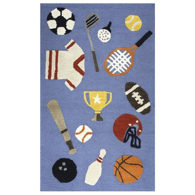 Ashlee Hand-Tufted Blue Kids Rug
