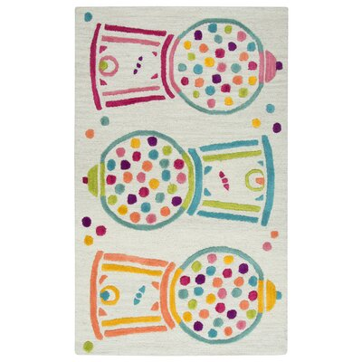 Ashlee Hand-Tufted Teal/Pink Kids Rug