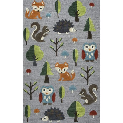 Ashlee Hand-Tufted Gray/Green Kids Rug