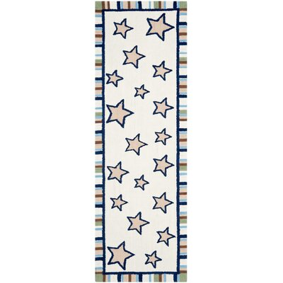 Shiloh Hand-Tufted Ivory Area Rug Rug Size: Runner 23 x 7