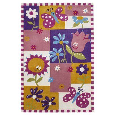 Wilda Springtime Fun Pink/Purple Area Rug Rug Size: 76 x 96