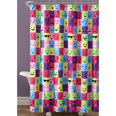 Neve Emoji Square Shower Curtain