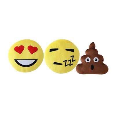 Ryan Emoji 3 Piece Throw Pillow Set with Heart