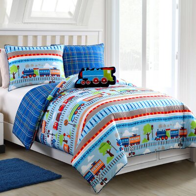 Alexy All Aboard Reversible Comforter Set Size: Twin