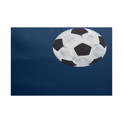 Bauer Navy Blue Area Rug Rug Size: 3 x 5