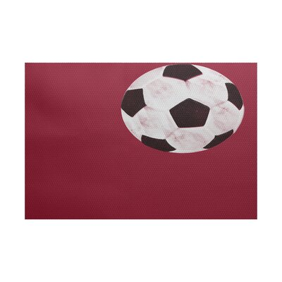 Bauer Red Area Rug Rug Size: Rectangle 2 x 3